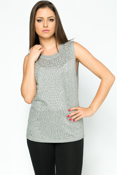 Metal Embellished Top