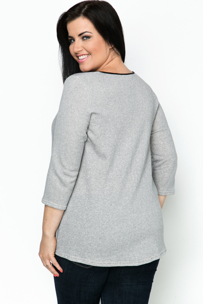 Mock Croc Trim Tunic