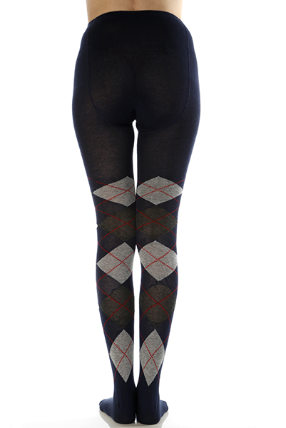 Multitone Argyle Patterned Tights