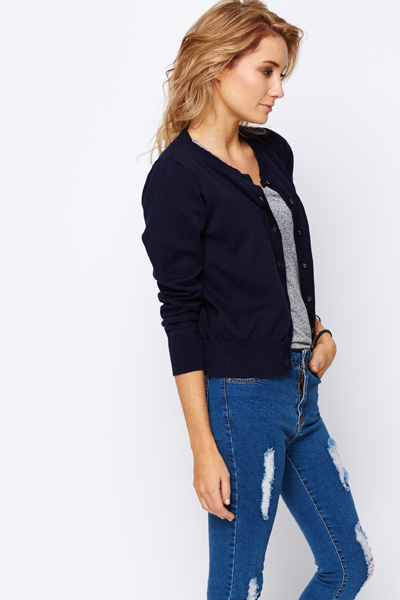 Everyday Button Front Cardigan