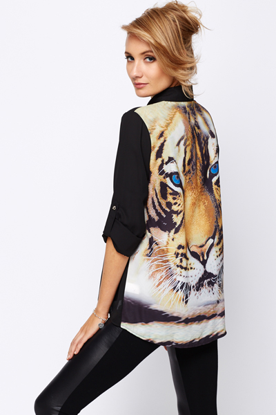 Tiger Back Blouse
