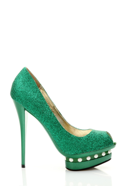 Glitter Pearl Platform Stiletto Shoes