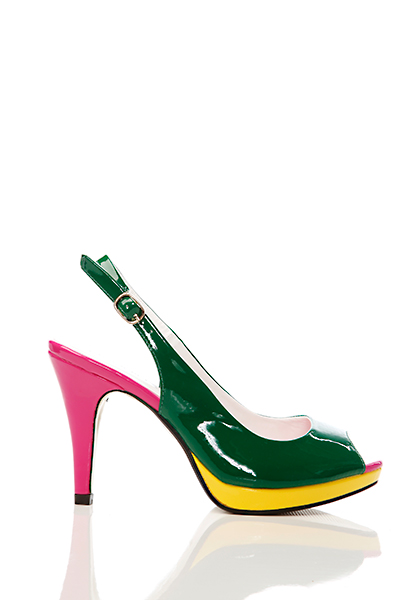 Multicolour Slingback Pump Shoes