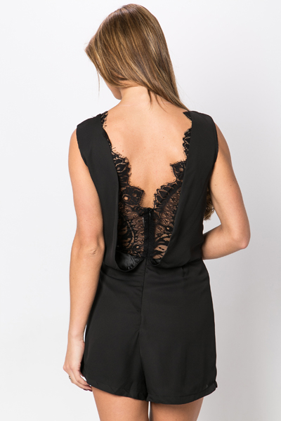 Embellished Neckline Playsuit