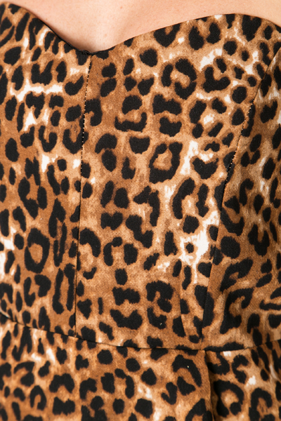 Bandeau Leopard Print Dress