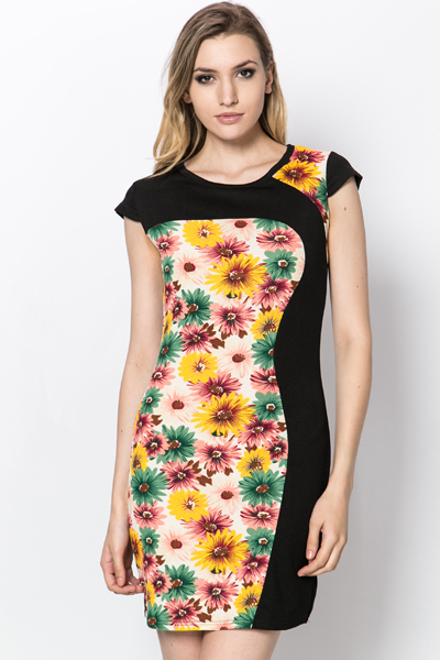 Sunflower Panel Dress