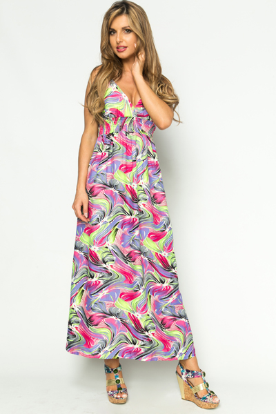 Brushed Feather Maxi Dress