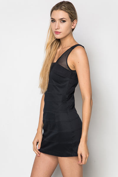 Mesh Shoulder Dress