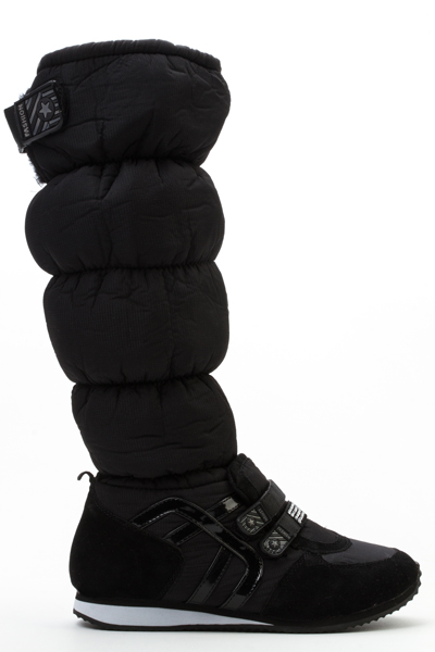 Padded Diamante Strap Boots