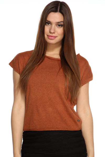 Cowl Neck Soft Knit Cropped Jumper