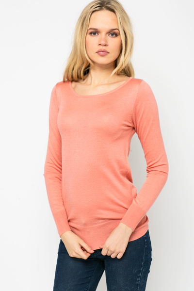 Bow Back Pullover