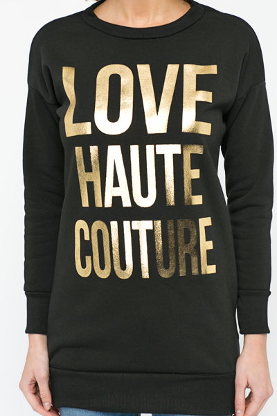 Love Couture Slogan Jumper