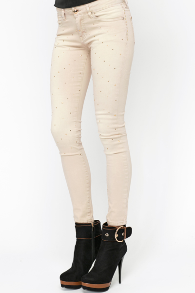 Diamante Stud Embellished Trousers