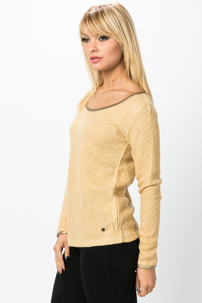 Gold Trim Metallic Pullover