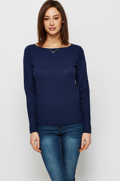 Rib Trim Everyday Jumper