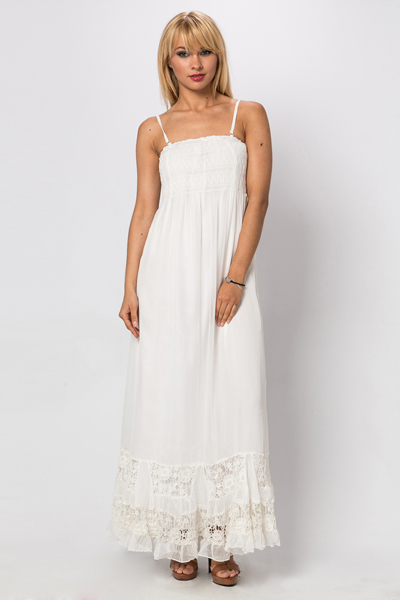 Lace Trim Maxi Dress