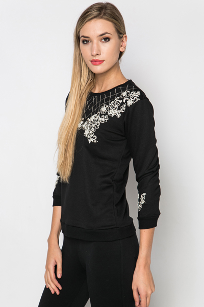 Pearl Embellished Pullover