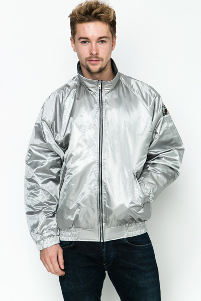 Shiny Zip Front Jacket