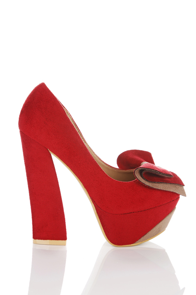 Two Tone Front Bow Shoes