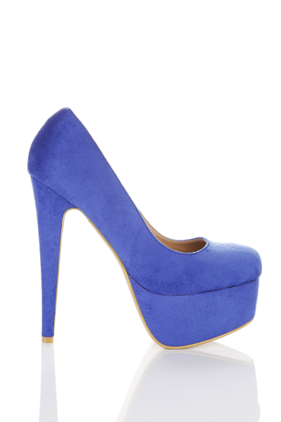 Suedette Platform Heel Shoes