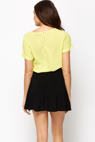 Square Textured Top