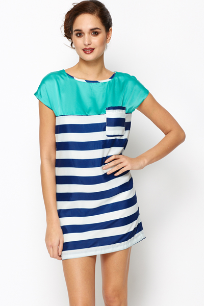 Colour Block Striped Tunic