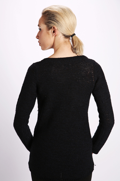 Casual Dipped Back Hem Pullover