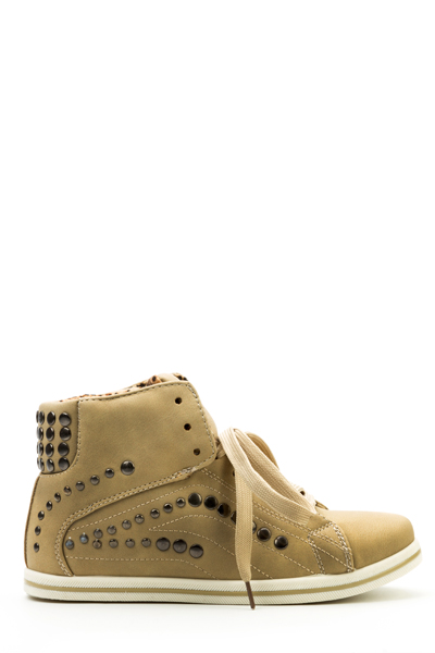 Round Stud Hi-Top Shoes