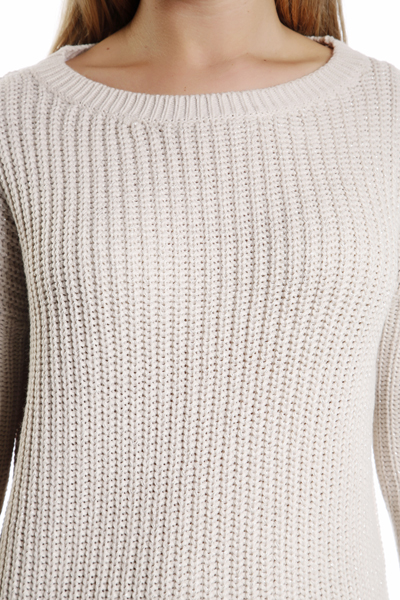 Metallic Fiber Thick Knit Jumper
