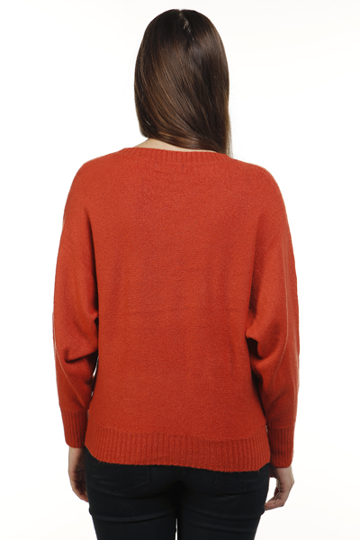 Batwing Sleeve Soft Knit Pullover