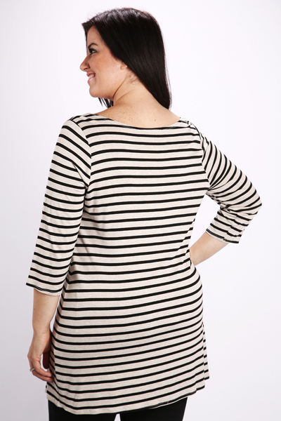 Basic Stripe Tunic Top