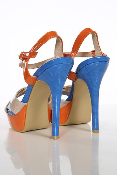 Multicolour Patent PVC High Heel Sandals
