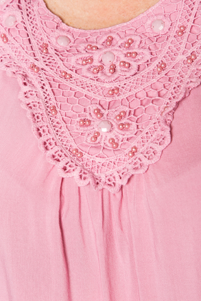 Crochet Bib Neck Top