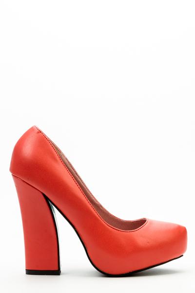 Block Heel Court Shoes - Just $6