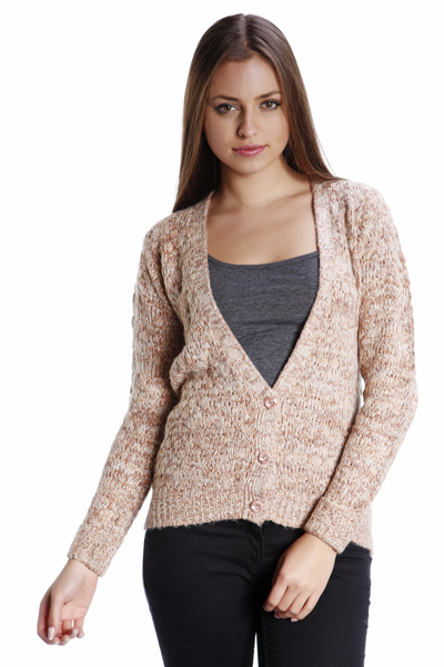 Speckled Knit Boyfriend Cardigan