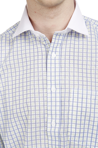 Two Tone Colour Check Pattern Shirt