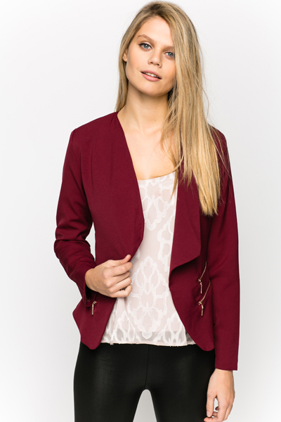 Zip Side Smart Blazer