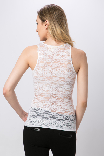 Sequined Lace Vest Top