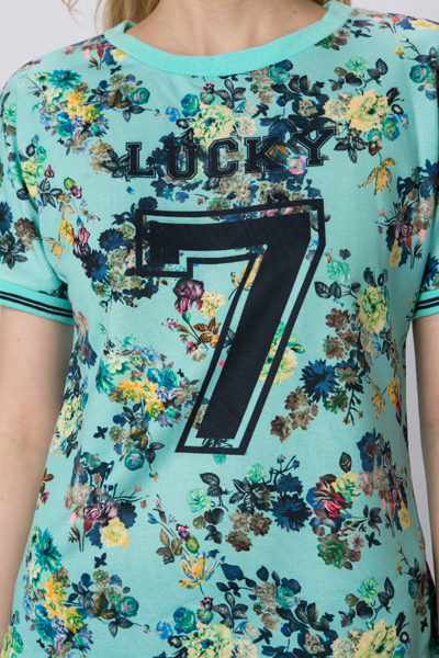 Lucky Number Floral Top