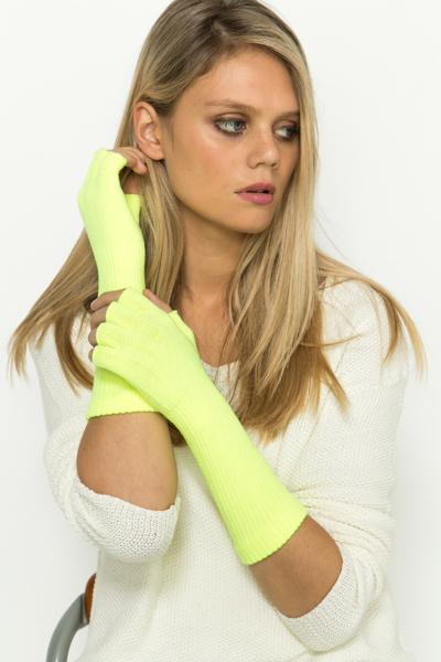 Fingerless Bright Gloves