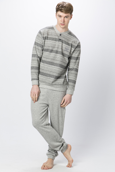 Striped Small Yacht Logo Pyjama Set