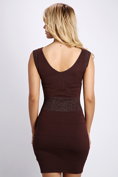 Glitter Knit Bodycon Dress