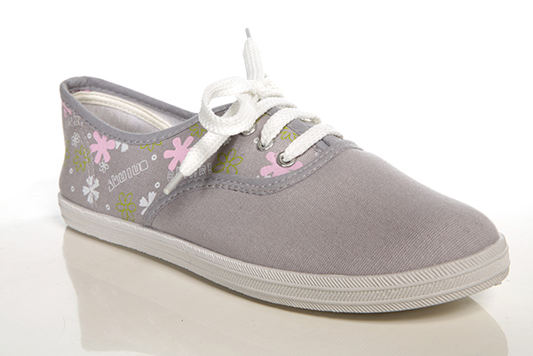 Floral Pattern Plimsoll Trainers