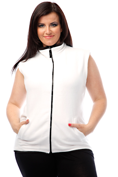 Fleece Sleeveless Zipped Jacket