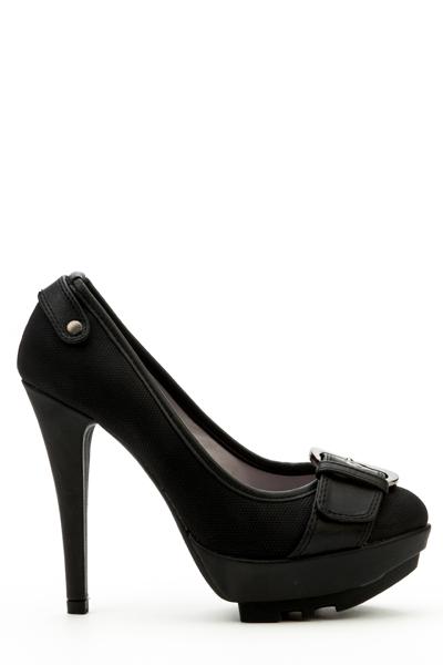 Image of Large Buckle Toe Heels