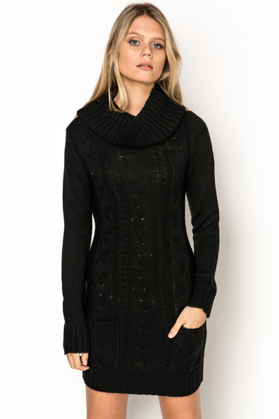 Cable Knit Jumper Dress