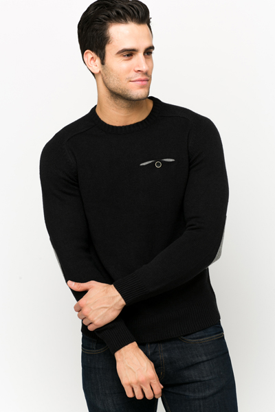 Buttoned Pocket Front Pullover