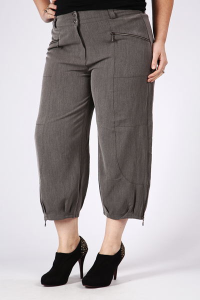 3/4 Length Zip Trousers