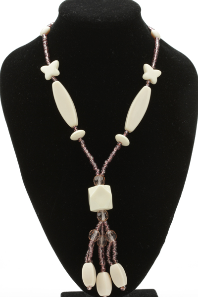 Marble Pendant Toggle Necklace