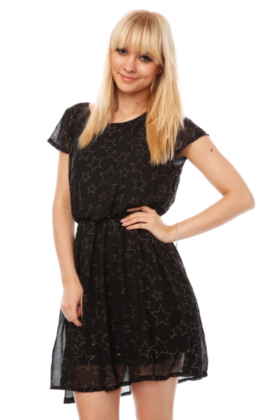 Raised Dots Stars Pattern Dress